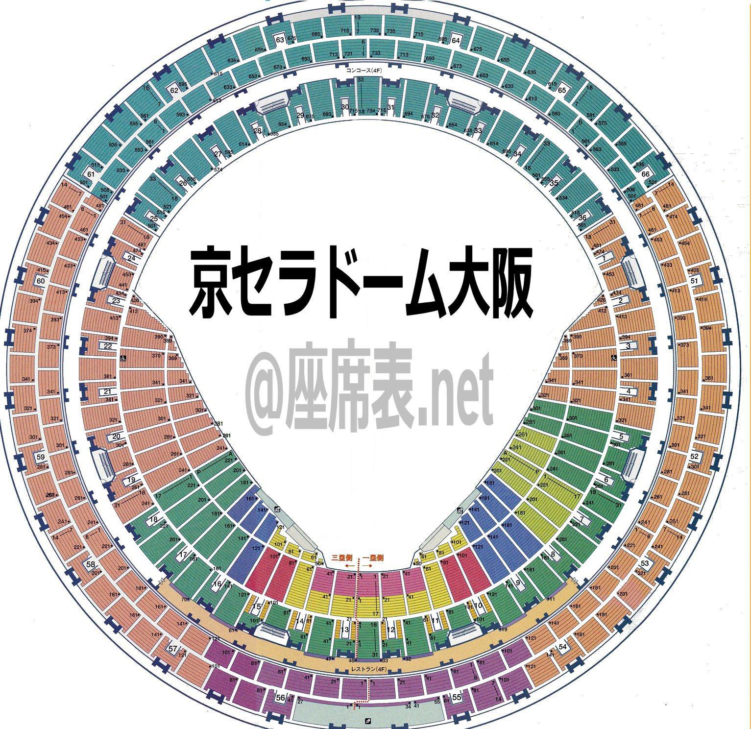 京セラドーム座席表