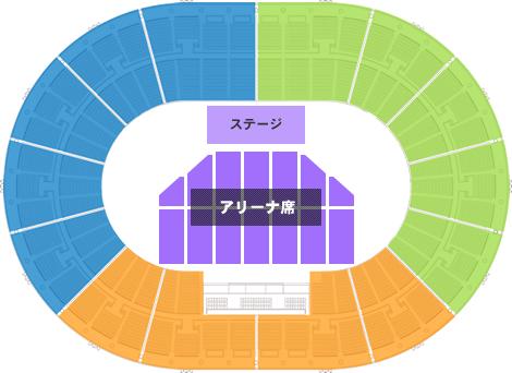 大阪城ホール ステージパターンA