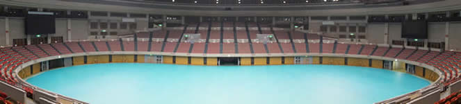 日本ガイシホール Aブロック3階席からの観覧イメージ