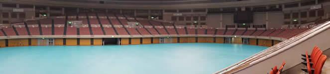 日本ガイシホール Bブロック2階席からの観覧イメージ