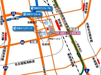 日本ガイシホール map