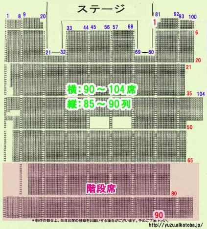 朱鷺メッセ 座席表 ゆず 2008
