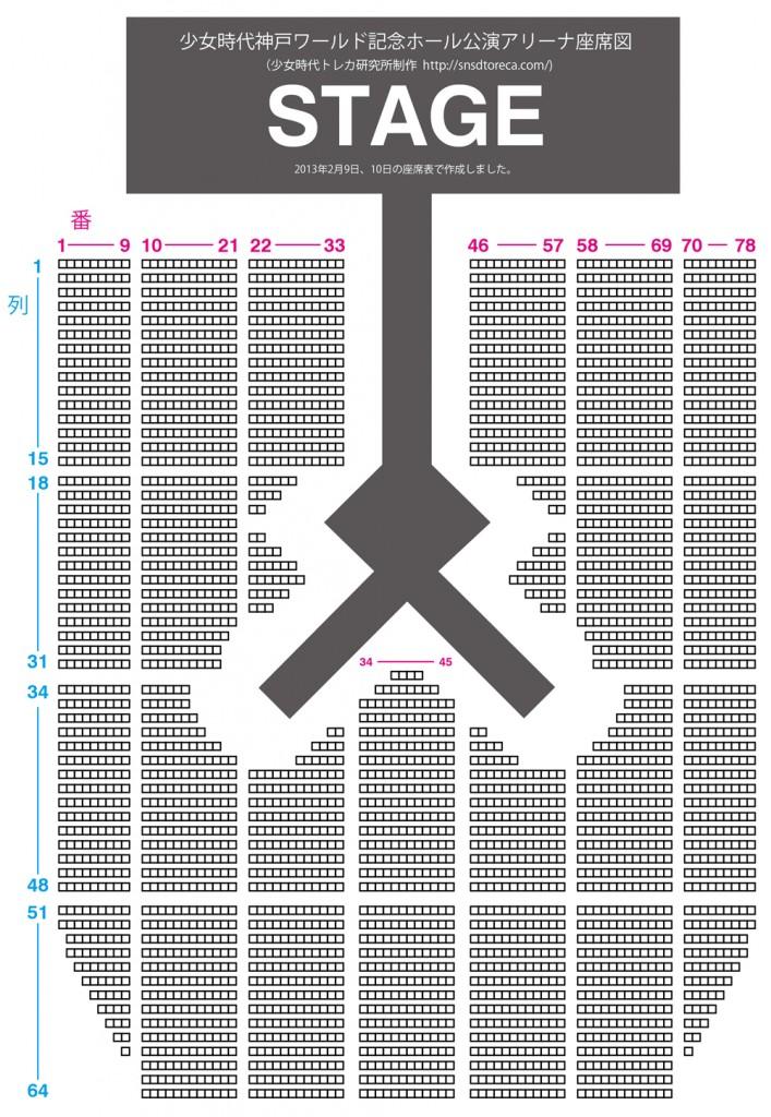 神戸ワールド記念ホール 座席表 少女時代 2013