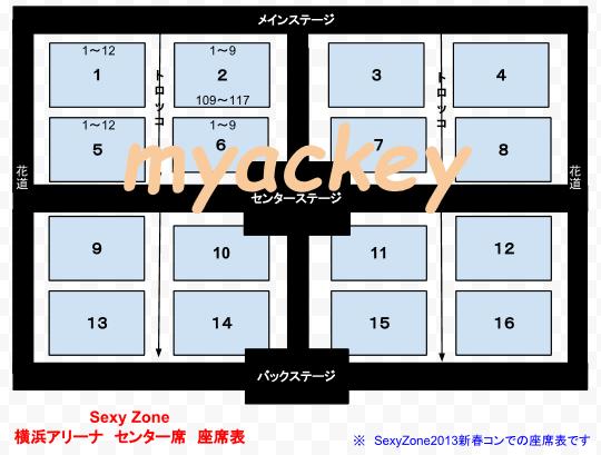 横浜アリーナ Sexy Zone 2013 座席表
